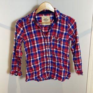 Hollister Plaid Button Up Shirt